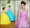 Q022 Latest Sweetheart Ball Gown Beaded Lace Up Back Tulle Quinceanera Dress Designers