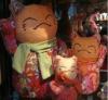 2012 latest stuffed Lucky cat fabric soft toy