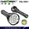 Flexgreen 80w 8000lm high bright XML T6 9 led flashlight
