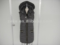 Womens long Feather Vest