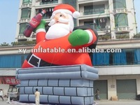 2012 New inflatable christmas santa figurine outdoor