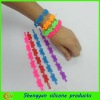 Hot-sale tattoo designs hollow silicone bracelet