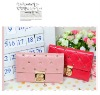 STOCK FOR WHOLESALE Sweet Cross Wintersweet Shape Lock Fashion Lady Wallet Fashion Card Holder