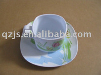 melamine cup and saucer for coffee