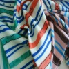 100% polyester stripe with snake printed Chiffon fabric