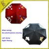 magic umbrella with colors difference between sunny and rainning