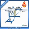 High-precision 6 color manual t shirt screen printing machine