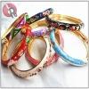 hinged enamel bangle bracelets