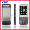 Quad band X300 Slim TV Mobile Phone Touch Screen Dual SIM Card