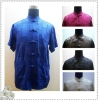 Brand New Silk Chinese Top/Chinese Traditional Garments Coat/Silk short sleeve shirt/top  CNL15