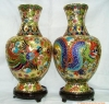 cloisonne vase ( cloisonne craft , cloisonne enamel vase )