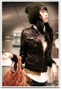 Fashion Ladies' Mink Leather Jacket F19