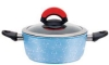 forged aluminum enamel marble coating  non-stick soup pot