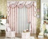 100% poly new design fashionable jacquard curtain