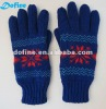 winter jacquard gloves