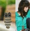 fashion retro owl necklace sweater chain