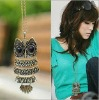 fashion retro owl necklace sweater chain