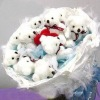 White teddy bear Bouquet