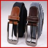 Fashion colord striped braided belt