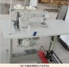 assembling machine for double layer hair weft