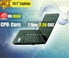 14.1'' ATI Dedicated Card+Intel Core 2 Duo P7550 CPU laptop,dual core, 2.26GHZ ,wifi,1.3MP webcame
