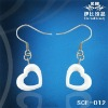 2012 white ceramic earring, amazing gift for lady
