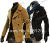 Men's wool coat double-breasted Korean style winter silm outerwear jacket