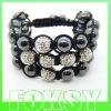 2012 newest Shamballa bracelet with shining crystal ball