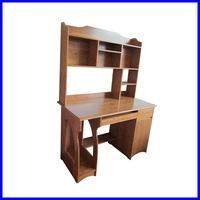 bamboo book shelf on the fashionable computer desk