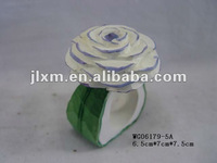 wooden carved flower napkin ring
