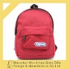 NEW!!! RED COLOR! 2012 fashion miniature coin pure/kid favorite school bag