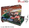 Gemany Train station 3d paper puzzle pop out world