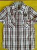 young boy 's fashion cotton woven grid shirtes