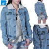 top quality fashion women denim jackets with good washing effects