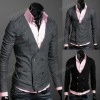 Men's Knitwear Cardigan Double Breasted Slim Casual Vest and Waistcoat