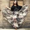 Eight meters of custom fabric large swing chiffon pictures of long skirts