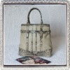 Lady snake genuine leather handbag handmade
