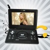dual screen rechargeable portable dvd player with speakers
