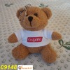 stuffed plush Teddy Bear toy,wearing T-Shirt with Key chain -09148
