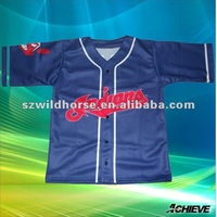 dye sublimation baseball jersey pattern