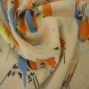 100% polyester birds printed Chiffon fabric