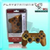 Hotsale Classic Gold color wireless controller for PS3,libration controller,game accessories,spare parts,