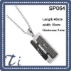 Fashion and comfort fit classic stainless steel pendant