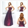 Purple Taffeta Strapless Beaded Floor-Length Mother of the bride dress