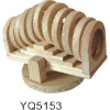 hamster / rat seesaw of natural wood W. ring tunnel