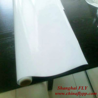 White Self Adhesive Vinyl Rolls,advertising media white adhesive vinyl film