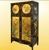 Vintage polished lacquer wood furniture