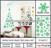 Snowflake Christmas Tree Vinyl Wall Sticker
