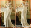Custom-made New design V-neck Lace Wedding Dresses 2012 JYWD0571