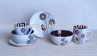 3pcs handpainted ceramic breakfast set